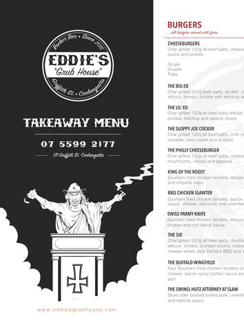 Eddie's Takeaway Menu