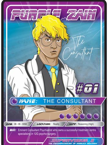 Purple Zain Playing Card #01