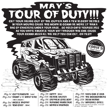 Eddie's Tour Of Duty May Poster