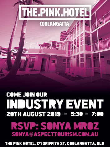 The Pink Hotels Industry Event Poster