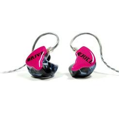 Корпуса - черные прозрачные Крышки - розовые непрозрачные с логотипом владельца