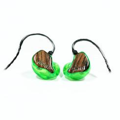 """Корпуса - зеленые прозрачные Крышки - вставка """"дерево"""" с логотипом Artist Monitors"""