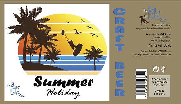 Kite Surf Summer  : Coffret 6 DK Blonde 33cl - 7%, étiquette personnalisable