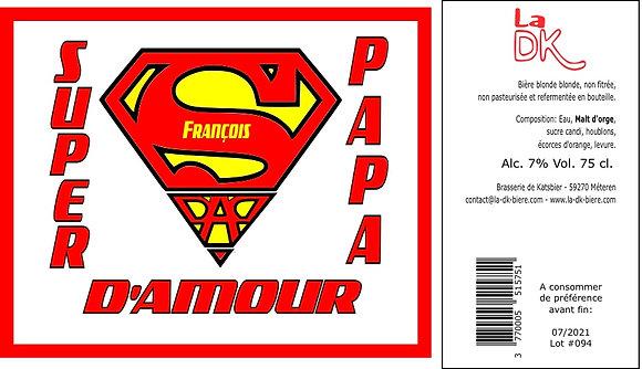 SuperMan : Coffret 6 DK Blonde 33cl - 7%, étiquette personnalisable