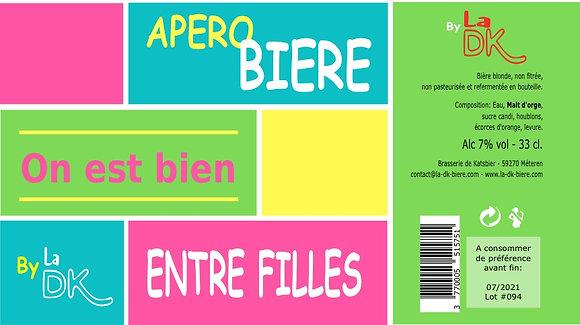 Apéro Filles : Coffret 6 DK Blonde 33cl - 7%, étiquette personnalisable