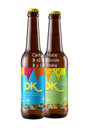 Carton de 3xDK Blonde 75cl, 7% + 3xDK India, 5,5%