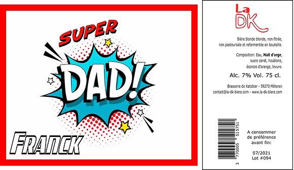 Super Dad : Coffret 6 DK Blonde 33cl - 7%, étiquette personnalisable