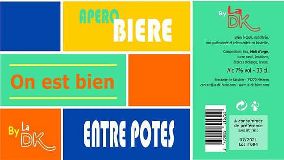 Apéro Potes : Coffret 6 DK Blonde 33cl - 7%, étiquette personnalisable