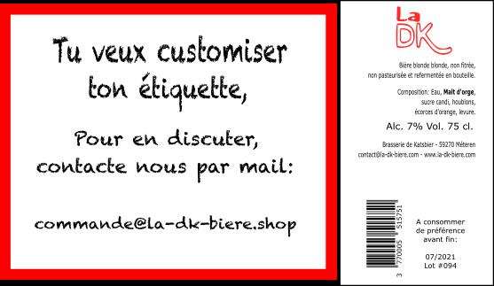 Tu veux customiser ton étiquette ?