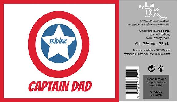 Captain Dad : Coffret 6 DK Blonde 33cl - 7%, étiquette personnalisable