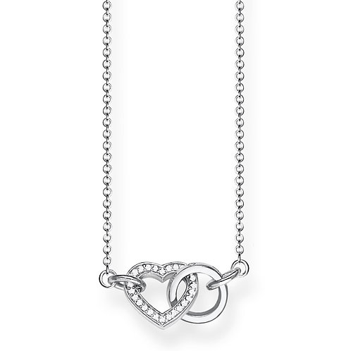 Thomas Sabo Sterling Silver Together Forever Heart Small Necklace - KE1643-051