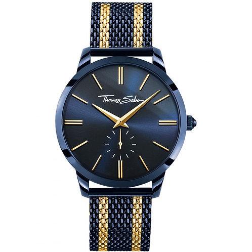 Thomas Sabo Men's Rebel Spirit Bico Blue Mesh Strap Watch - WA0283
