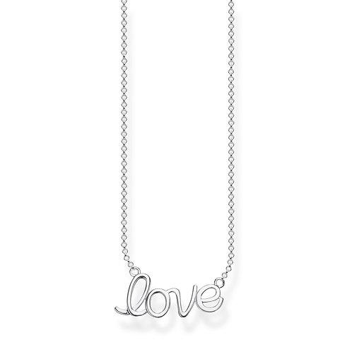 Thomas Sabo Sterling Silver LOVE Necklace - KE1847-001-21-L45V