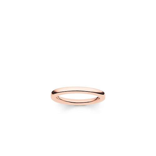 Thomas Sabo Silver Rose Gold Plain Band Ring - TR1979-415-12