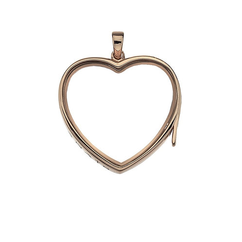 Anais by Hot Diamonds Sterling Silver Rose Gold Large Love Heart Locket