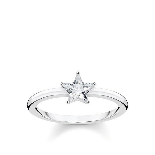 Thomas Sabo Sterling Silver Sparkling Star Ring -TR2270-051-14