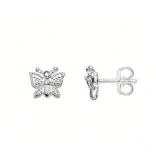Thomas Sabo Silver Butterfly and Diamond Stud Earrings - D_ H0005-153-14