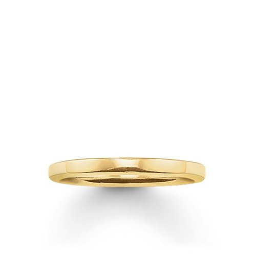 Thomas Sabo Silver Yellow Gold Plain Band Ring - TR1979-413-12