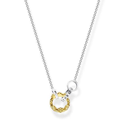 Thomas Sabo Gold Crown Together Forever Necklace - KE1987-849-7