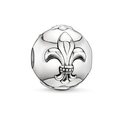 Thomas Sabo Karma Fleur-de-lis Silver Bead Charm - K0033-001-12