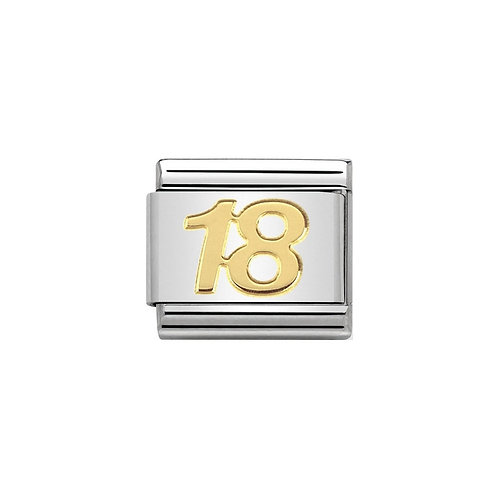 Nomination Gold Classic 18 Charm Link - 030109/34