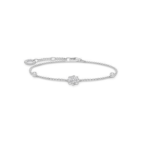 Thomas Sabo Silver Four Leaf Clover Bracelet - A1993-051-14