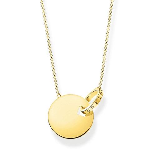 Thomas Sabo Sterling Silver Gold Together Forever Necklace - KE1947-413-39