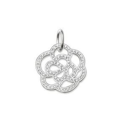 Thomas Sabo Flower with Clear Zirconia's Disc Pendant - PE520-051-14