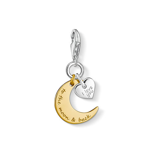 Thomas Sabo Silver I Love You to the Moon and Back Charm - 1443-413-39