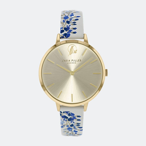 SARA MILLER - Wisteria Printed Leather Strap Watch - SA2042
