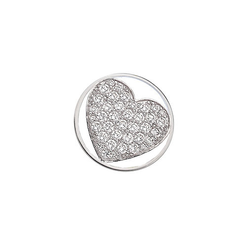 Emozioni by Hot Diamonds Love Heart Clear CZ Coin - EC366