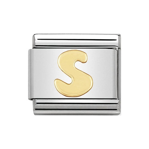 Nomination Gold Initial S Charm Link -030101/19