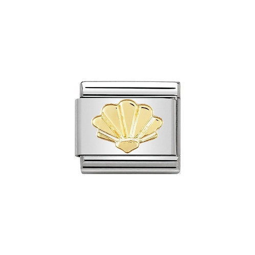 Nomination Gold Classic Shell Charm Link - 030111/05