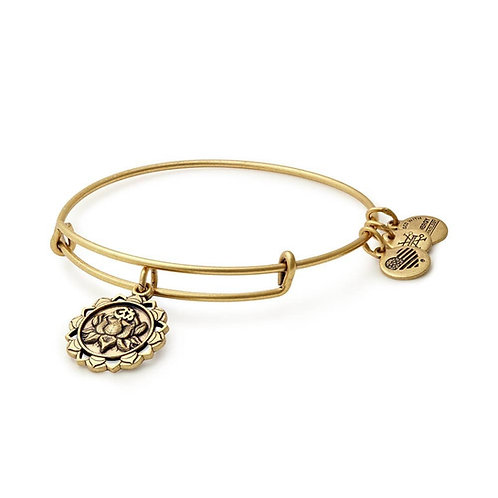 Alex and Ani Rafaelian Gold 'Lotus Peace Petals' Charm Bangle - A17EBLPPRG