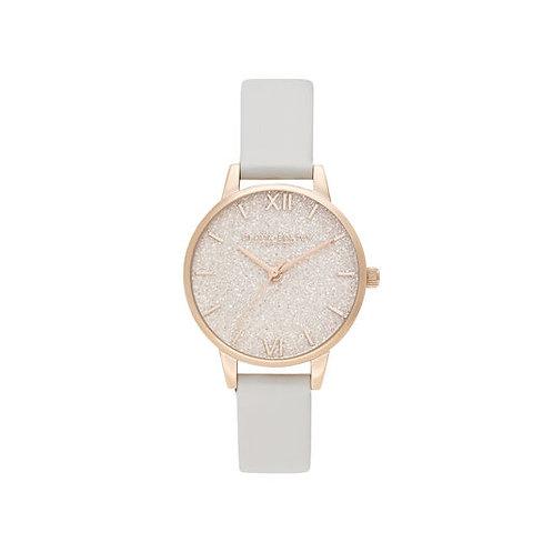 Olivia Burton Glitter Dial Vegan Blush Rose Gold Watch - OB16GD50