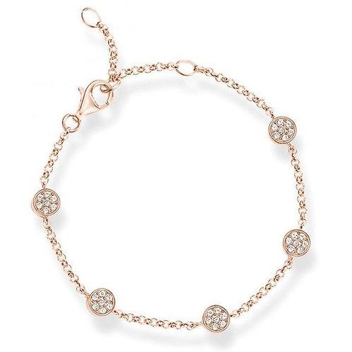 Thomas Sabo Rose Gold Sparkling Circles Bracelet - A1330-416-14
