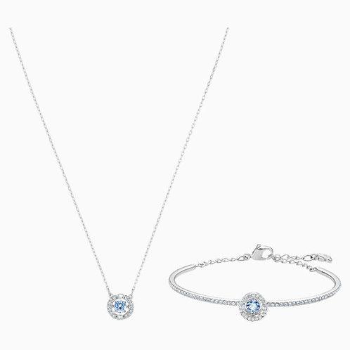 SWAROVSKI Blue Sparkling Dance Necklace and Earring Set - 5506386