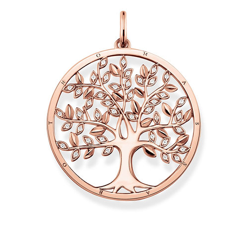 Thomas Sabo CZ Tree of Love Rose Gold Tone Pendant - PE759-416-14
