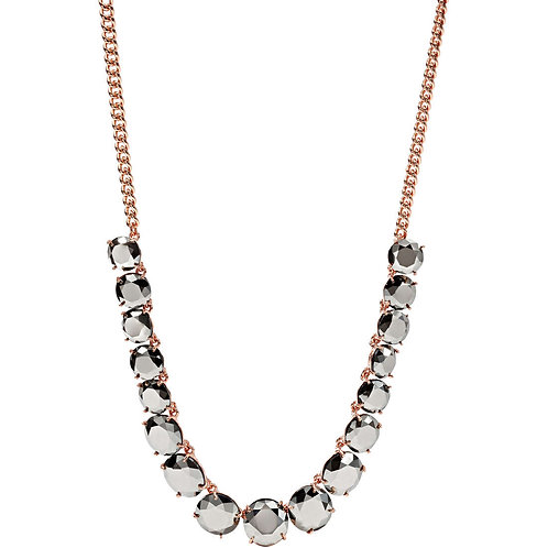 Fossil Women's Stainless Steel Rose Gold Necklace