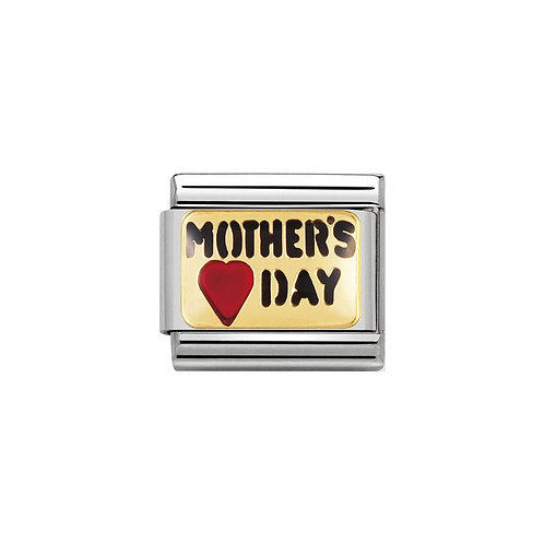 Nomination Gold Mother's Day Charm Link - 030261/11