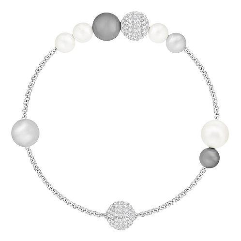 SWAROVSKI Remix Collection Grey Pearl Strand Bracelet - 5365739