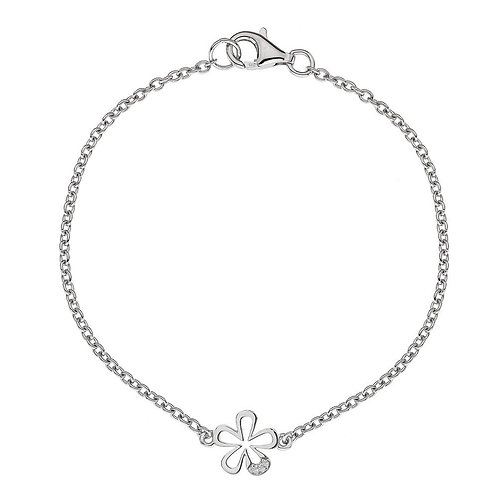 Hot Diamonds Sterling Silver Micro Flower Bracelet