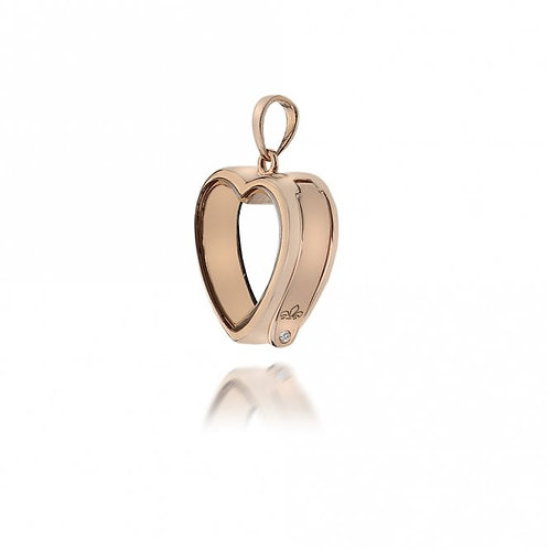 Anais by Hot Diamonds Sterling Silver Rose Gold Small Heart Locket - AL002