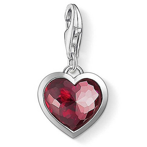 Thomas Sabo Silver Red Love Heart Charm - 1305-012-10