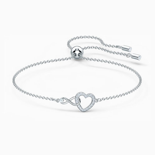 SWAROVSKI Infinity Heart Bracelet in Rhodium and Clear Crystal  - 5524421