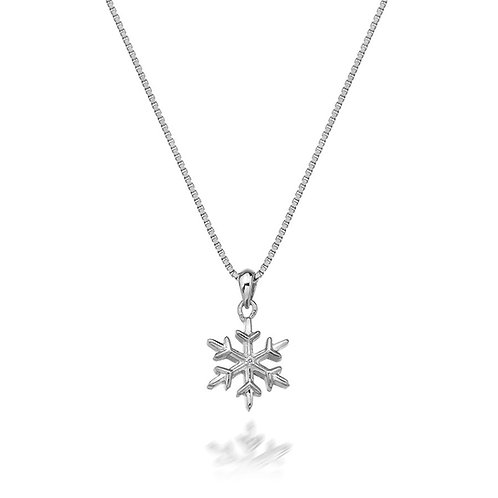 Hot Diamonds Sterling Silver Christmas Snowflake Necklace