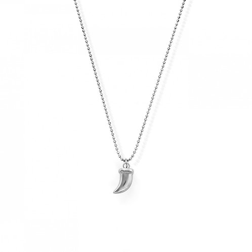 ChloBo Sterling Silver Diamond Cut Chain and Tusk Necklace - SNMTUSK