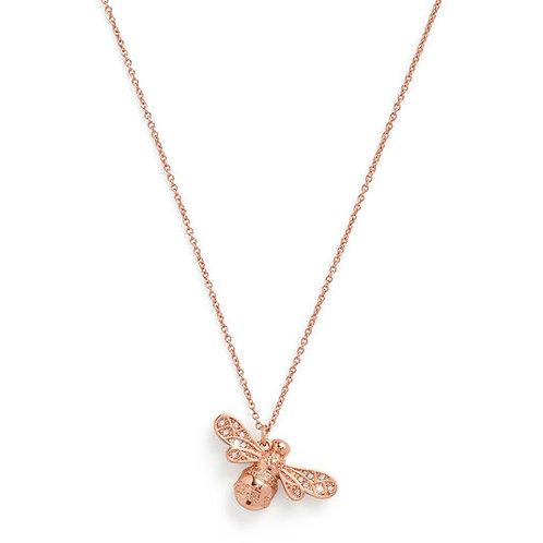 Olivia Burton Sparkle Bee Rose Gold Necklace OBJLHN16