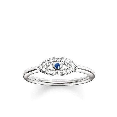 Thomas Sabo Silver Nazar Eye Ring - TR2075-412-32-56