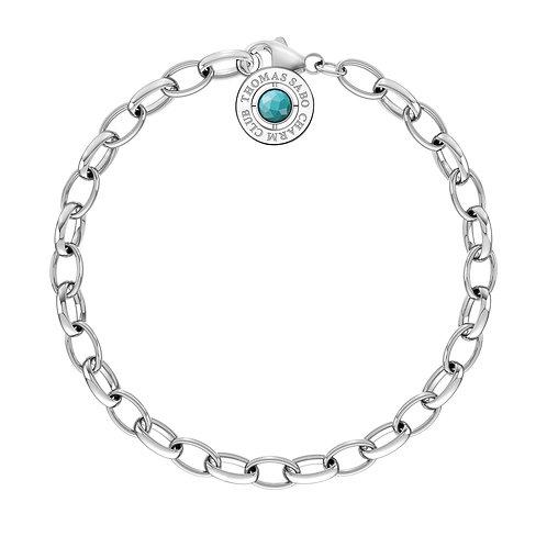 Thomas Sabo Charm Club Sterling Silver Turquoise Bracelet -  X0229-404-17-M